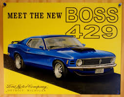 michigan mustang ford 429 mustang tin sign 302 429 gt500 v8 shelby detroit