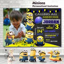 minion birthday party invites minion invitationminion birthday invitationminion birthday