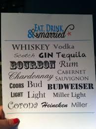 bar menu is finished weddingbee photo gallery