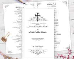 catholic wedding program cover catholic wedding etsy