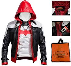 laverapelle batman arkham knight red hood faux leather men jacket