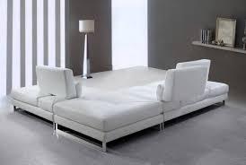 White Leather Sofa Sleeper by Sofa Sleeper Sectional White Leather Sectional Couch