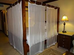 White Metal Canopy Bed by Bedroom White Canopy Bed Drapes With Metal Bed And Grey Wall For