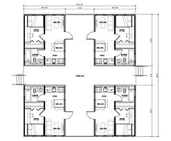 multi unit row house plans