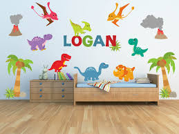 dinosaur wall decal for kids bedroom personalized name zoom