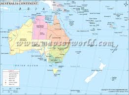 Blank World Map by Australia Continent Map