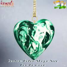 green flat glass marble heart handmade acrylic resin christmas
