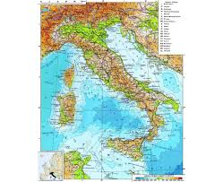 Maps Of Italy A Physical Map Of Italy You Can See A Map Of Many Places On The