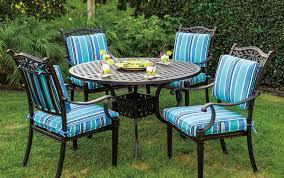Cast Aluminum Patio Chair Patio Furniture Dining Set Cast Aluminum 42 Or 48 Dining