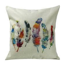 aliexpress com buy fashion geometric feathers cushions home