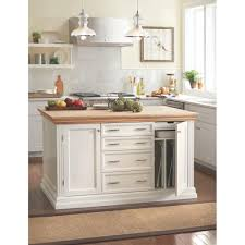 martha stewart living addison white kitchen island with storage