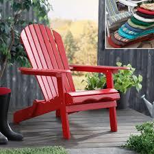Red Patio Chair Cushions Furnitures Outdoor Chaise Lounge Cushion Adirondack Chair