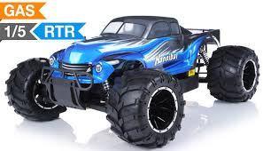 monster truck radio car 1 5th giant scale exceed rc hannibal 30cc