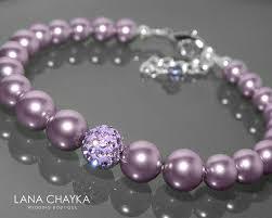 crystal pearl bracelet swarovski images Light purple pearl bracelet swarovski mauve pearl violet crystal jpg