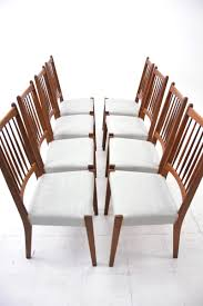 8 teak dining chairs new upholstery danish homestore