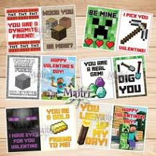 minecraft s day cards minecraft printable s day cards