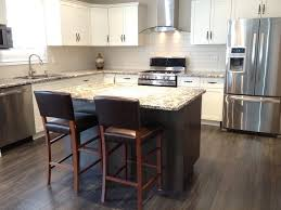 Best White Cabinets  Dark Island Kitchen Images On Pinterest - White kitchen cabinets with white backsplash