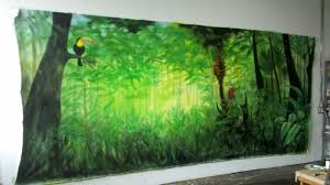 jungle book backdrops for school plays jungle backdrop by tracy