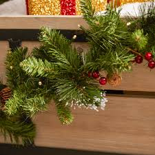 decorating outdoor garland with lights led wreath pre lit garland