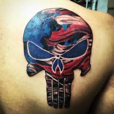 Ripped American Flag Tattoo American Flag Skull Tattoo Pictures To Pin On Pinterest Tattooskid