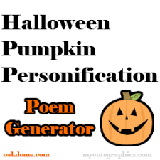 halloween pumpkin personification poem generator k 5 computer lab