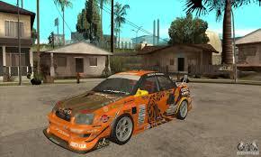 subaru orange subaru impreza d1 wrx yukes team orange for gta san andreas