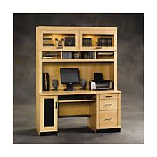Sauder Office Desk Sauder Office Port Computer Desk Mapleblack By Office Depot
