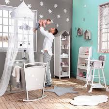 theme de chambre bebe babyzimmer mit wolken in grau mint jade
