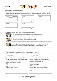 spanish greetings and goodbyes worksheets worksheets