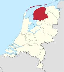 netherlands map flag friesland