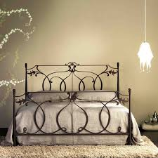 Iron Rod Bed Frame Iron Wrought Bed Frames Future Homes Pinterest Intended For Black