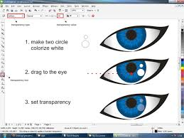 tutorial vektor dengan corel vector eyes with coreldraw