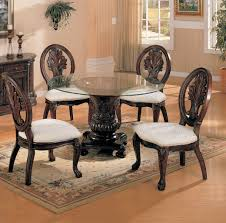Chair Chairs For Round Dining Table And Set  Po Round Dining - Black dining table with cherry top