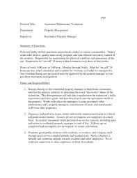 Maintenance Engineer Resume Marvelous Sample Resume Building Maintenance Technician In