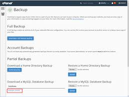 backup your database in cpanel inmotion hosting