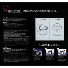 food heat l temperature 73 off daily deal la gourmet 6 0l thermal wonder cooker