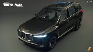 bmw dashboard at night bmw x7 concept images leak before reveal the drive