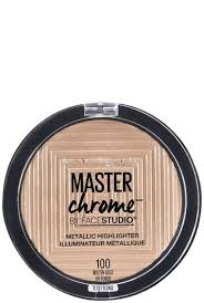 studio master chrome metallic highlighter makeup maybelline