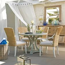 fabulous wicker coastal style rattan dining chairs with cushions