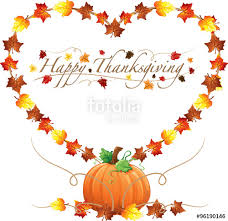 happy thanksgiving text with fall leaves stock image and royalty