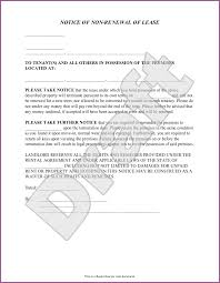 landlord not renewing lease letter to tenant