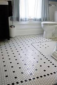 Bathroom Floor Tile Designs Creative Tile Flooring Patterns White Hex Tile With Black Border
