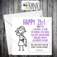 funny alternative sarcastic birthday card 21st birthday