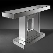 Venetian Console Table Contemporary Venetian Mirrored Glass Statement Console Table With