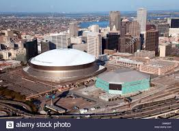 mercedes dome orleans downtown orleans louisiana from an aerial view with the stock