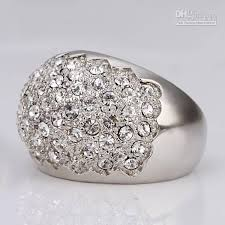 platinum crystal rings images Crystal diamond rings wedding promise diamond engagement jpg