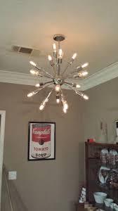 Decor Chandelier Decor Living Sputnik 18 Light Polished Nickel Chandelier 751c 32