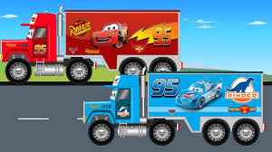 monster truck videos on youtube disney lightning mcqueen and dinoco big truck video for kids
