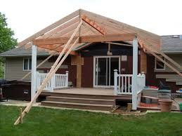 modern style building a roof over a patio with zekaria shed roof