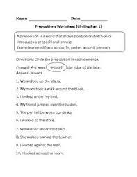 choosing prepositions worksheet englishlinx com board
